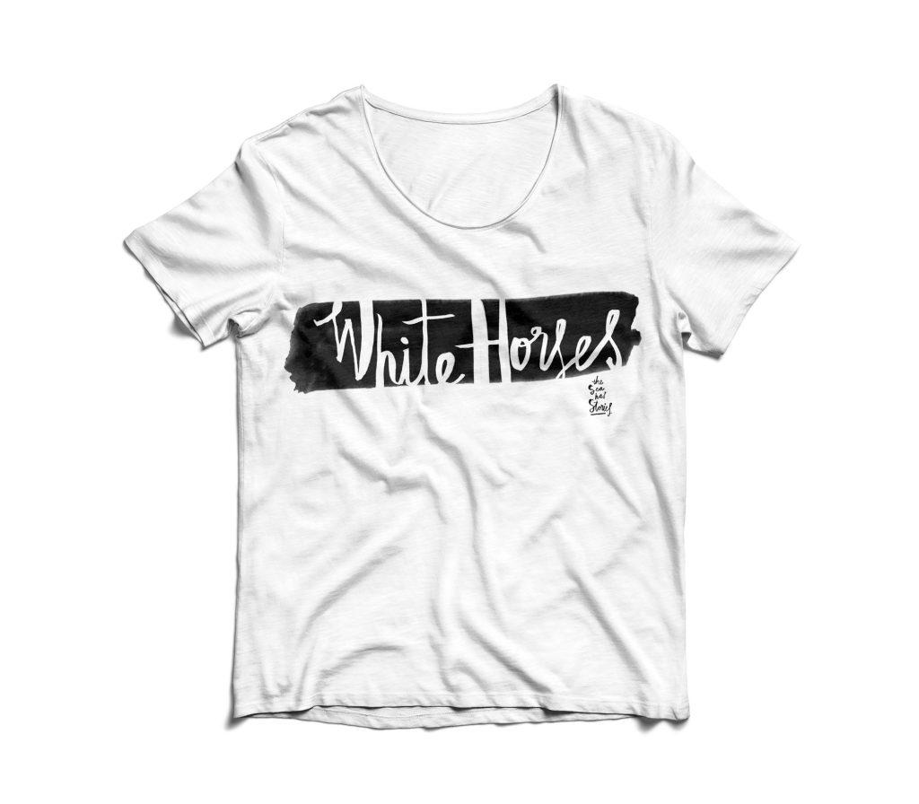 T-shirt design for White Horses magazine (unpublished)
